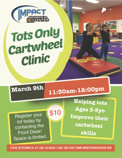 March 9th Tots Cartwheel
