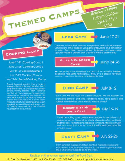 Themed Camps 2019