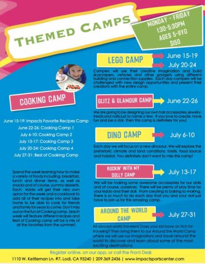 Themed Camps - 2020